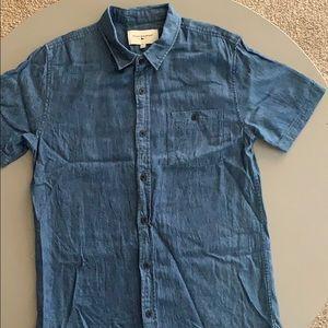 Men's Modern Amusement Button Shirt Sleeve GUC!